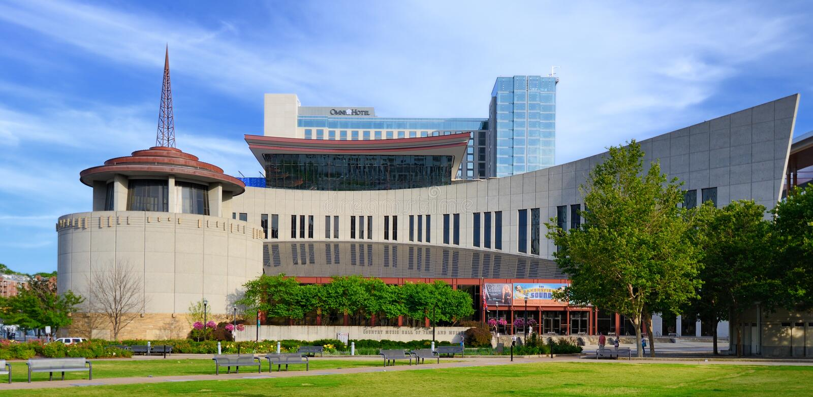 Country Music Hall of Fame. And Museum June 14, 2013 in Nashville, TN. The museum opened in 1961 and preserves the evolving history and traditions of country royalty free stock images