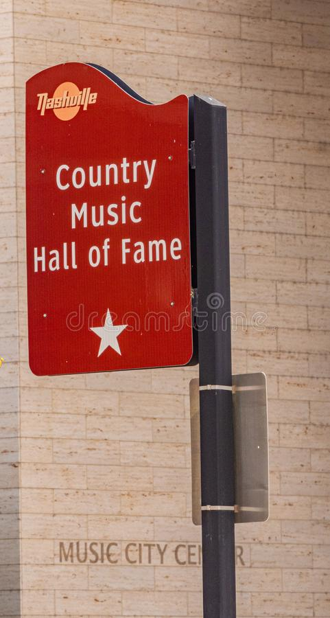 Country Music Hall of Fame sign - NASHVILLE, USA - JUNE 15, 2019 stock image