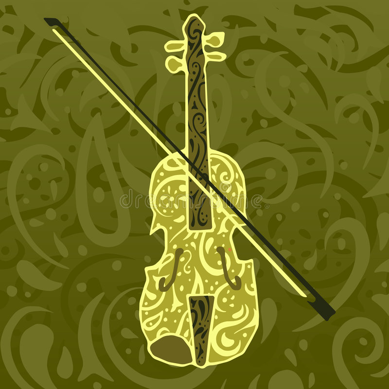 Free Country Music Pattern - Fiddle Stock Images - 4378054