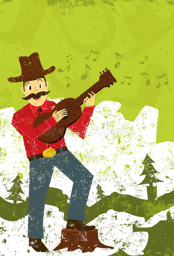 Country music singer royalty free illustration