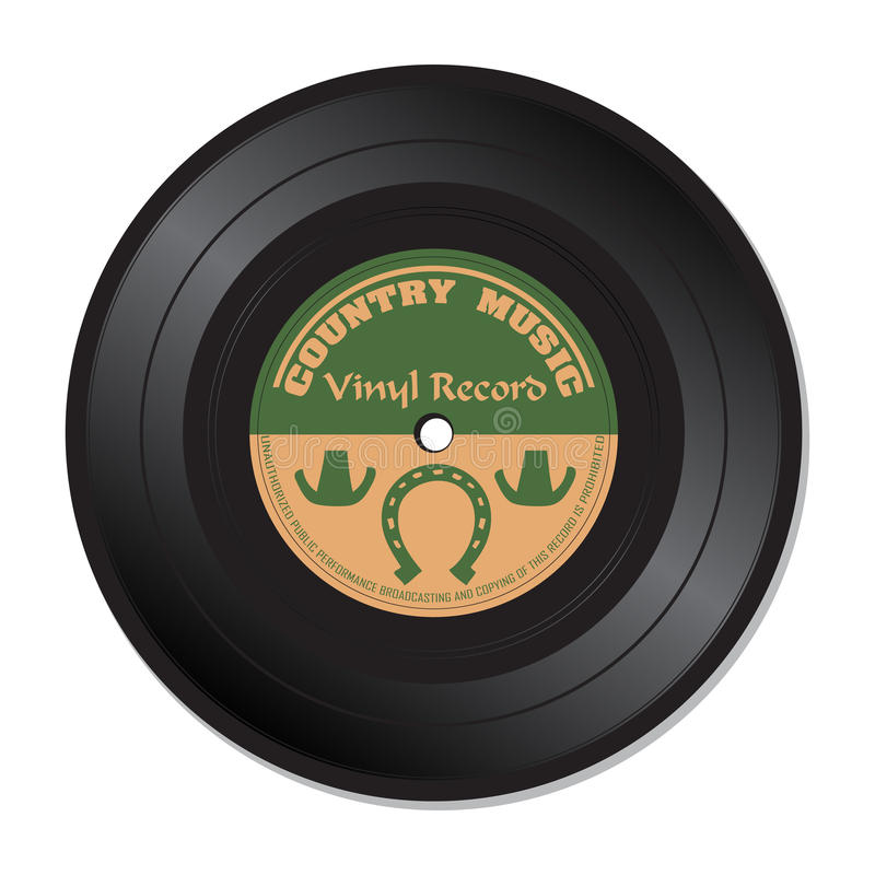 Country music vinyl record royalty free stock photography