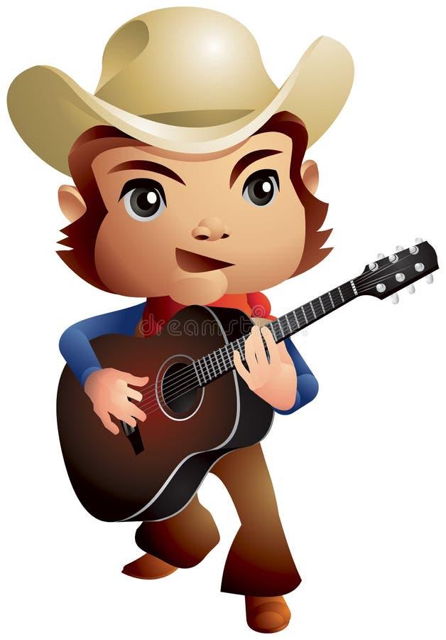 Country muziekcowboy vector illustratie