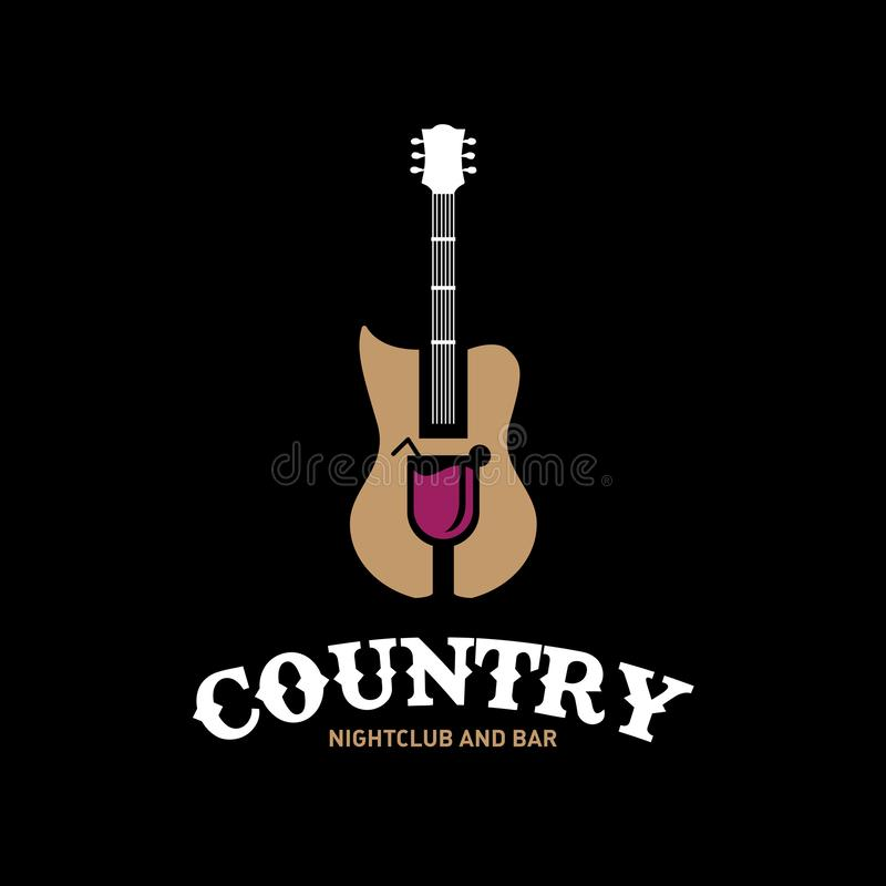 Country Nightclub and Bar royalty ilustracja