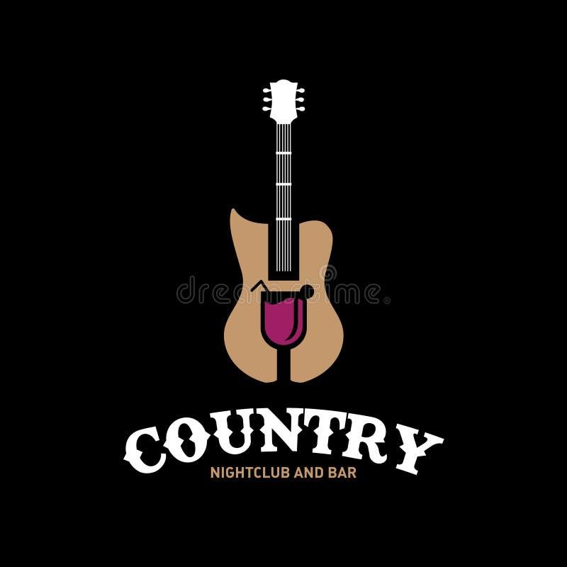 Country Nightclub e Bar ilustração royalty free