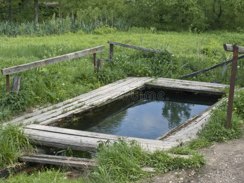 Download Country Pond For Washing And Rinsing Stock Photo - Image: 9713020
