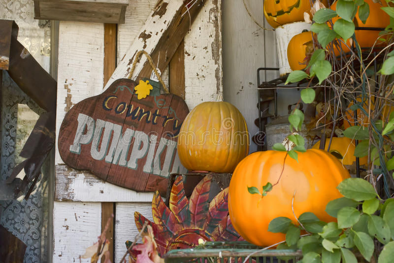 Country Pumpkin Autumn Display stock photos