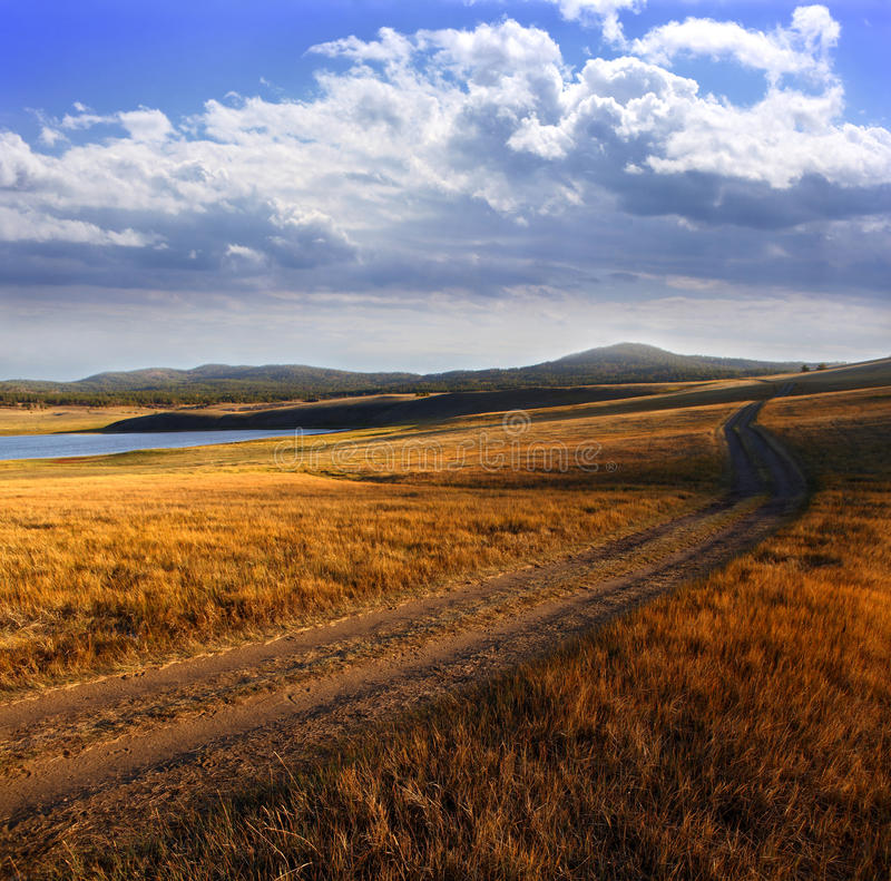 Download Country road stock photo. Image of grass, yellow, valley - 16060480
