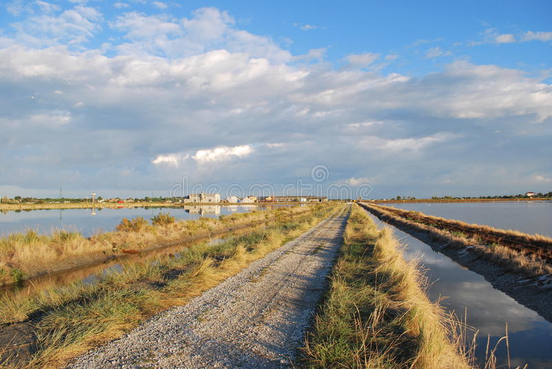 Download Country road stock image. Image of saltpan, saltern, evaporation - 20071031
