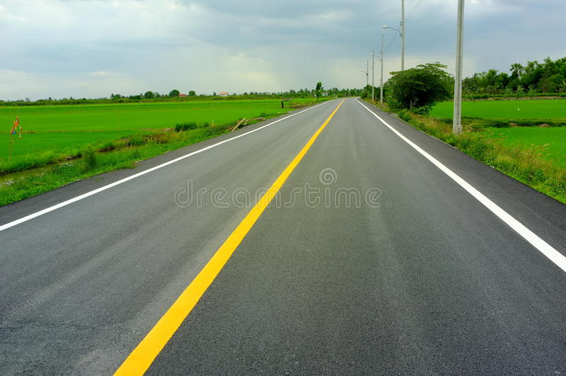 Download Country road stock photo. Image of lanes, middle, empty - 25503618