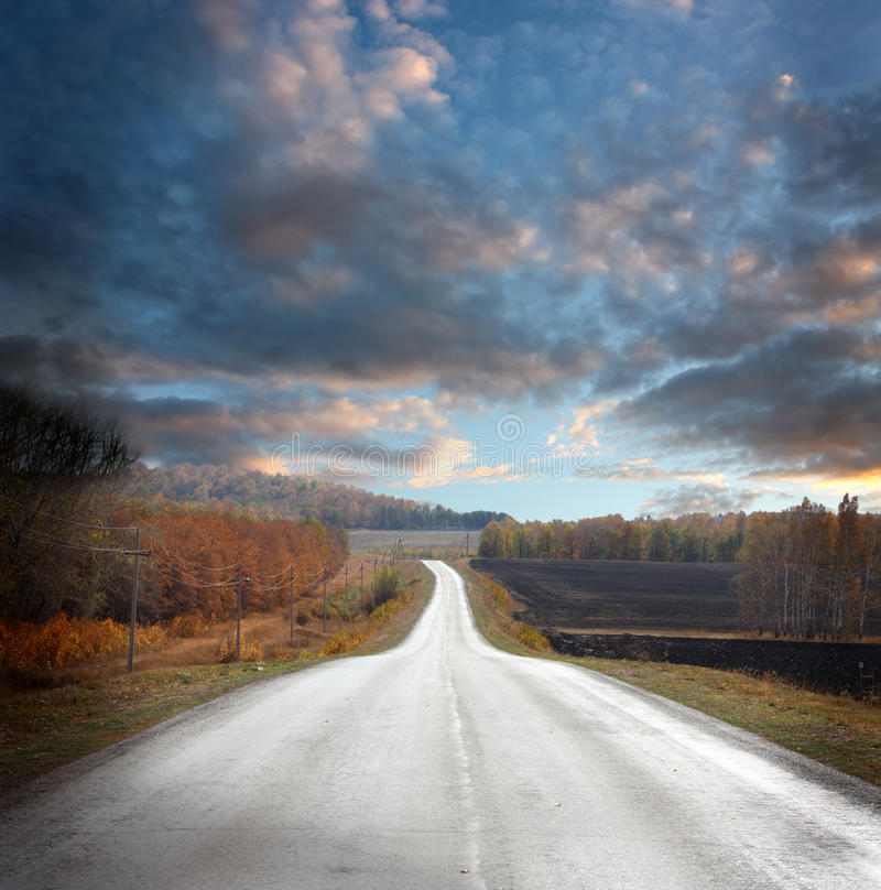 Download Country road stock photo. Image of mood, dusky, country - 26398986