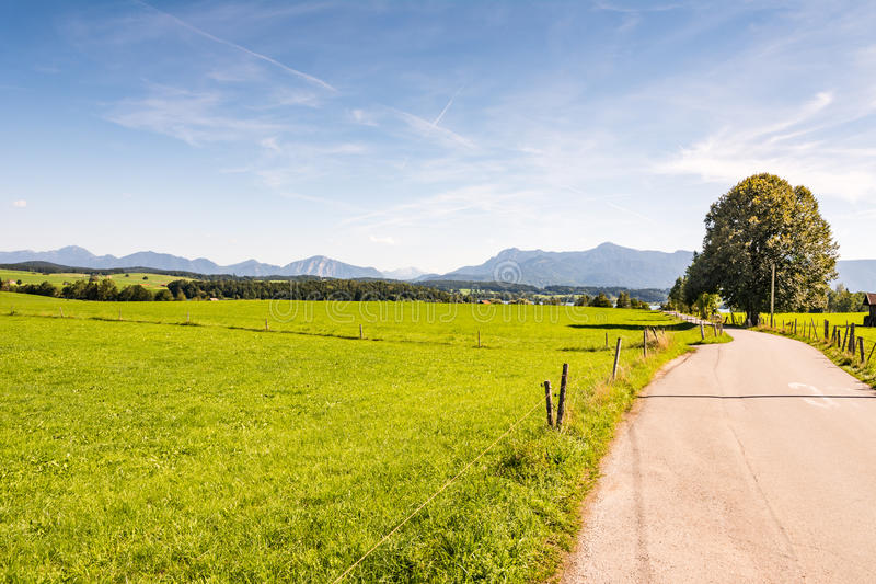 Country road in Bavaria stock image