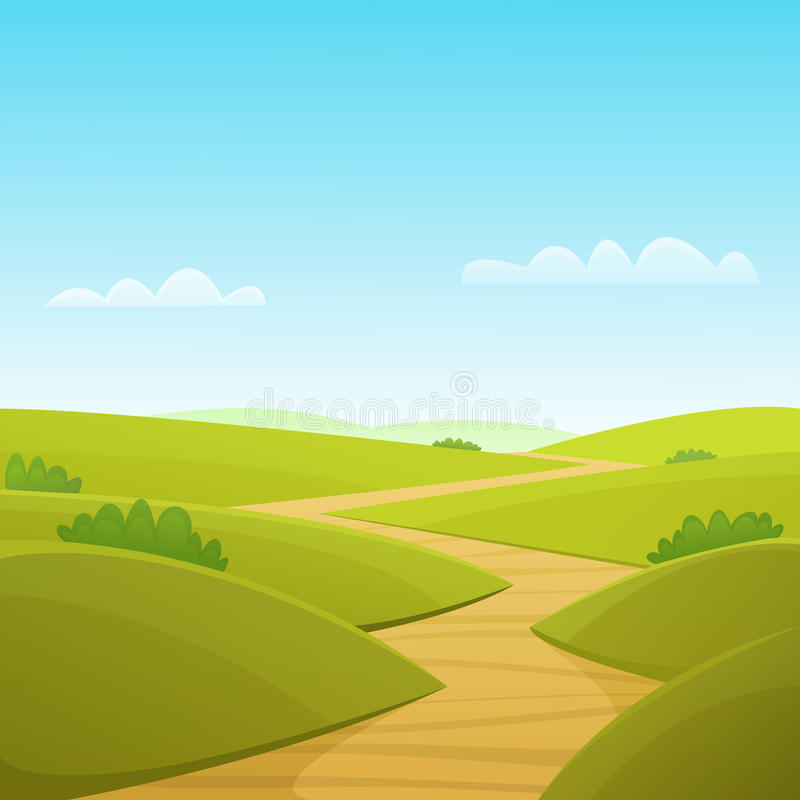 Country Road stock illustration