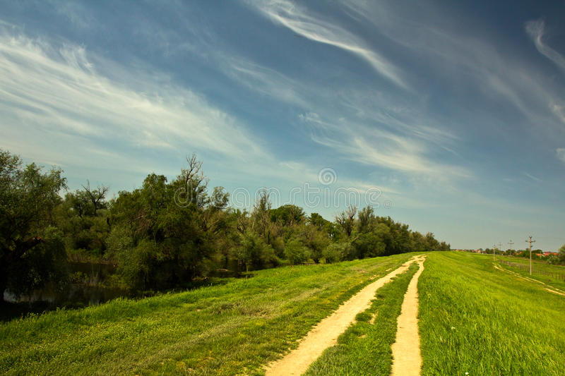 Download Country Road stock photo. Image of colorful, cloud, grassland - 41160402