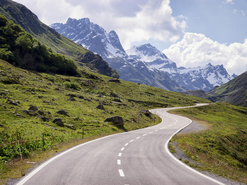 Country road. At the european alps stock photos