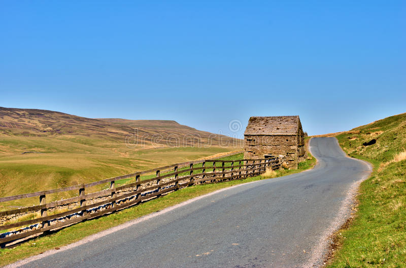 Download Country Road And Old Stone Barn Stock Photo - Image: 25375280
