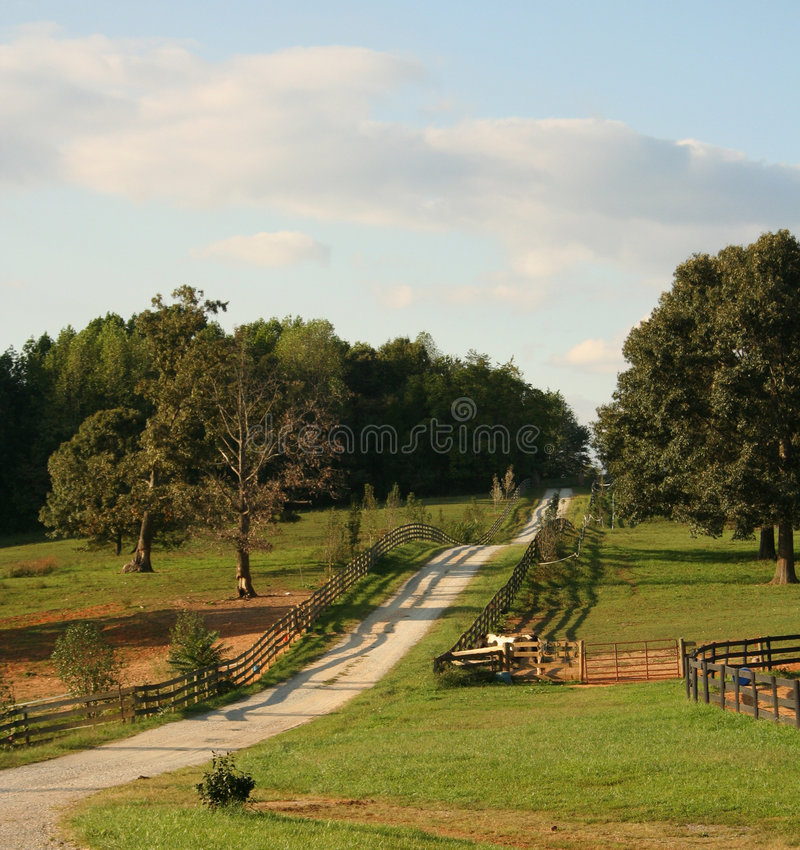 Country roads of Virginia USA. stock photo