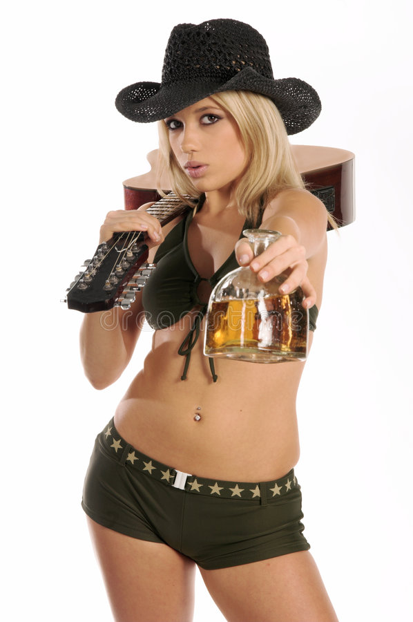 country rock tequila fotografia stock