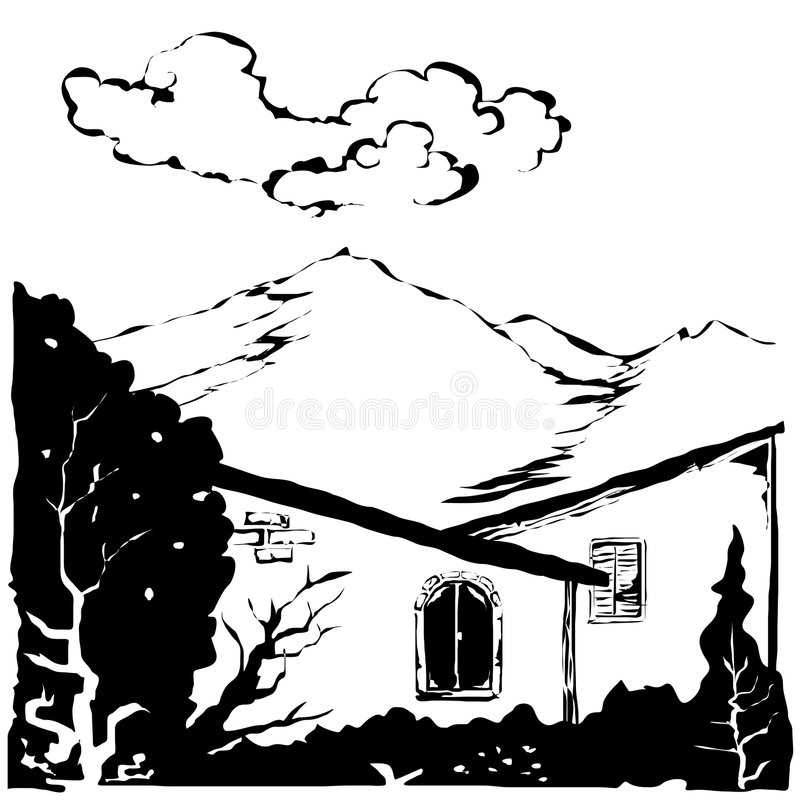 Download Country Scene Vector stock vector. Image of illustration - 6009761