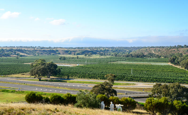 Country side in Australia stock photos