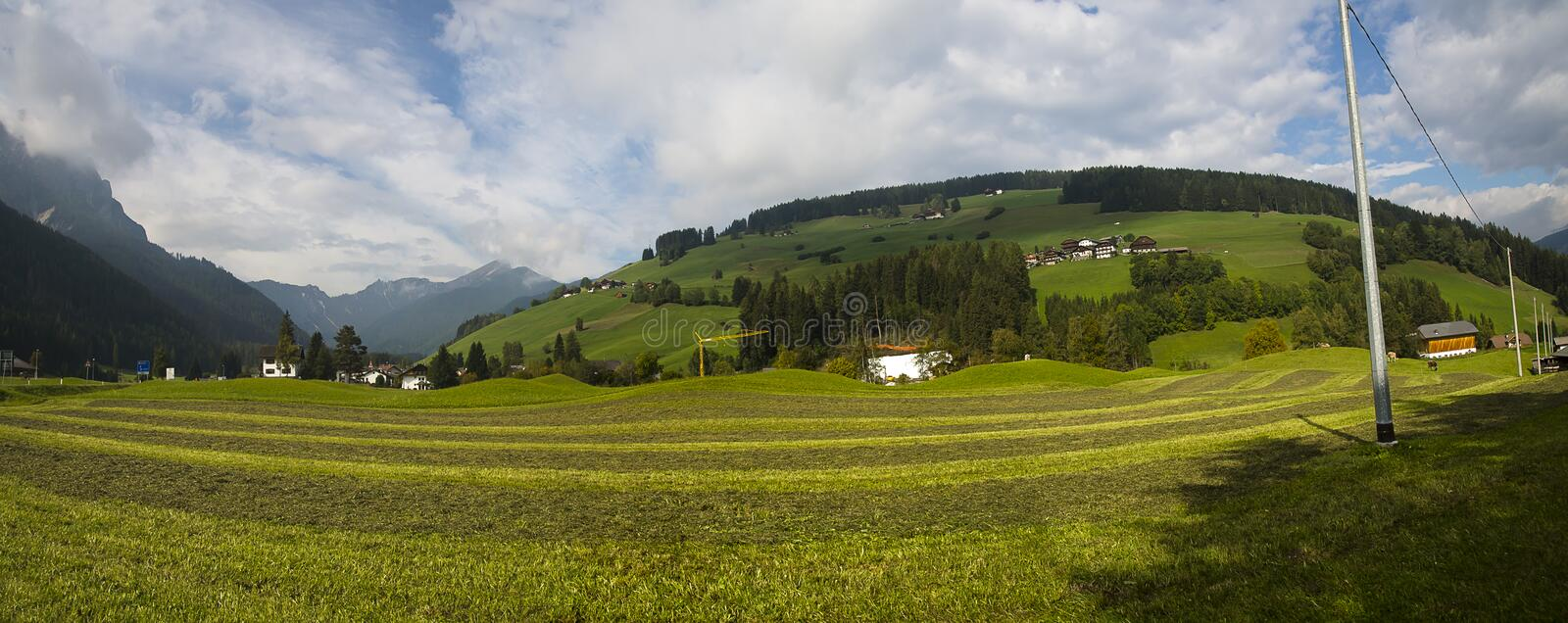 Country side panoramic scene, Italy stock photo