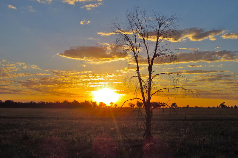 Country side sunset stock photos