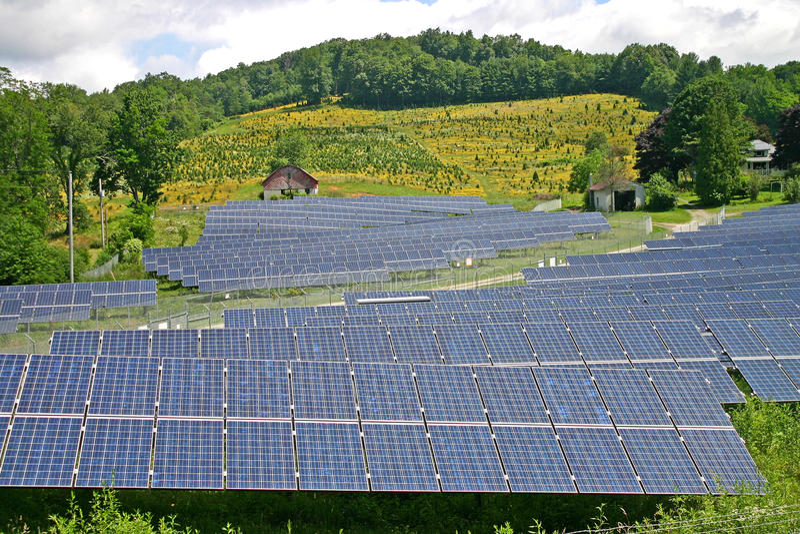 Country Solar Farm royalty free stock photo