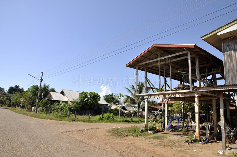 Country Style Construction House Thailand stock image