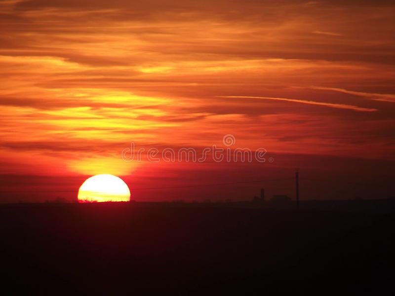 Country Sunset royalty free stock photos