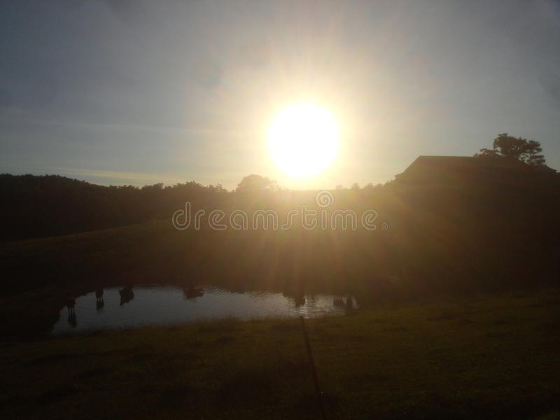 Country sunset royalty free stock photography