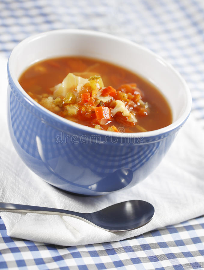 Country vegetable soup stock photography
