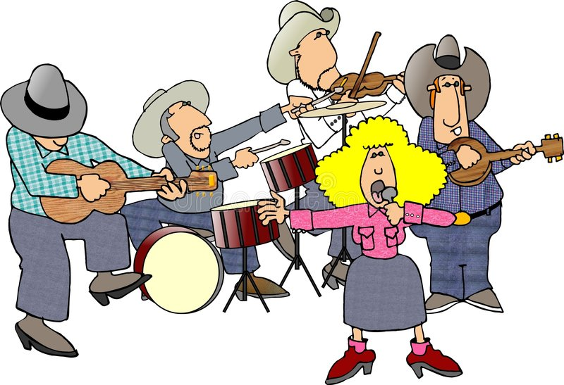 Country & western band royalty free illustration