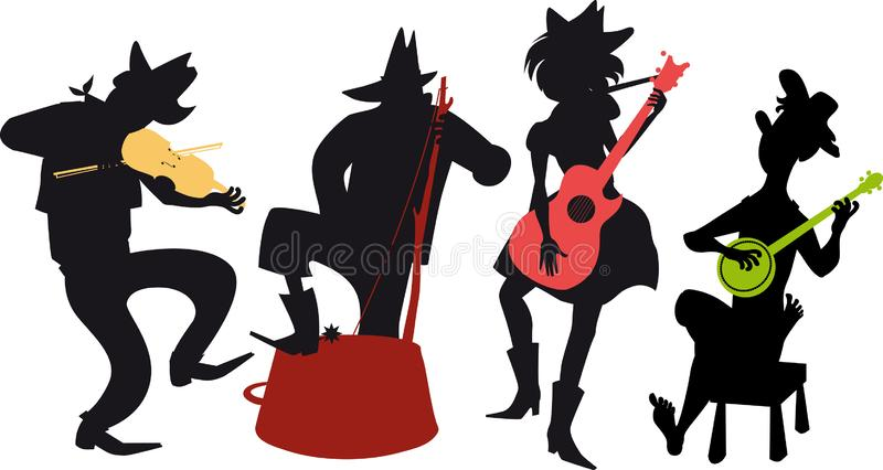 Country western jug band stock illustration