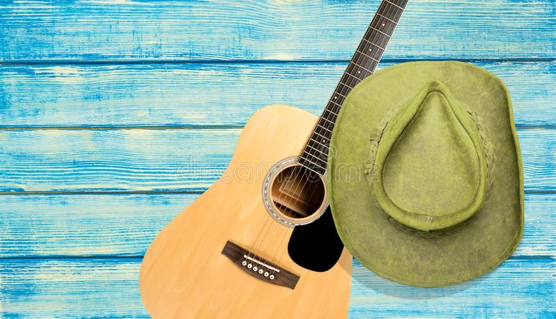 Country and western music. Guitar music backgrounds barn wood old stock photos