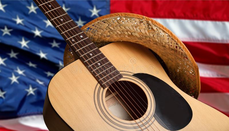 Country and Western Music. Non-Urban Scene Music Guitar Bluegrass Popular Music Concert Music Festival royalty free stock photos