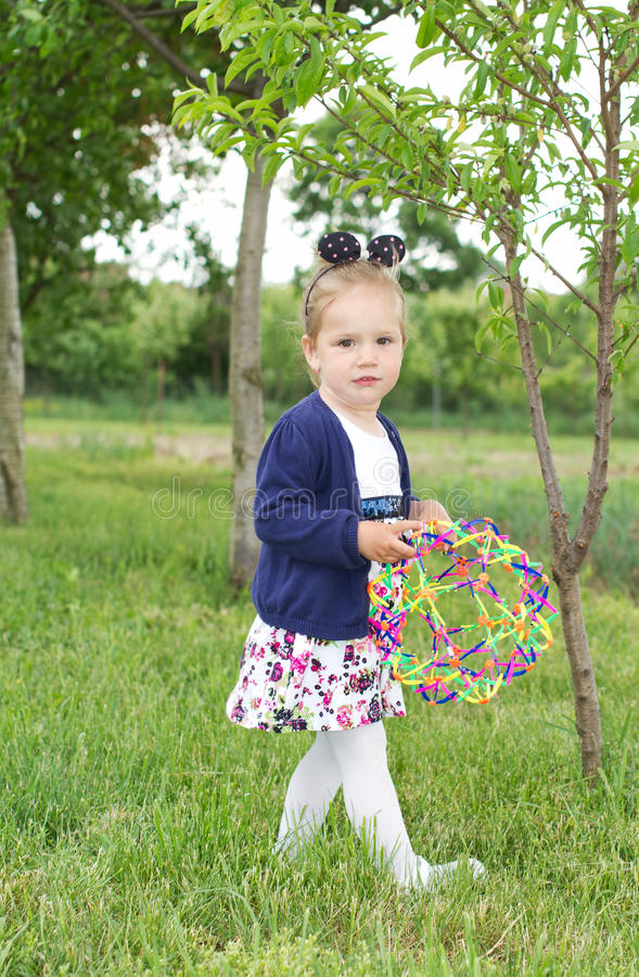 Country young child girl stock images