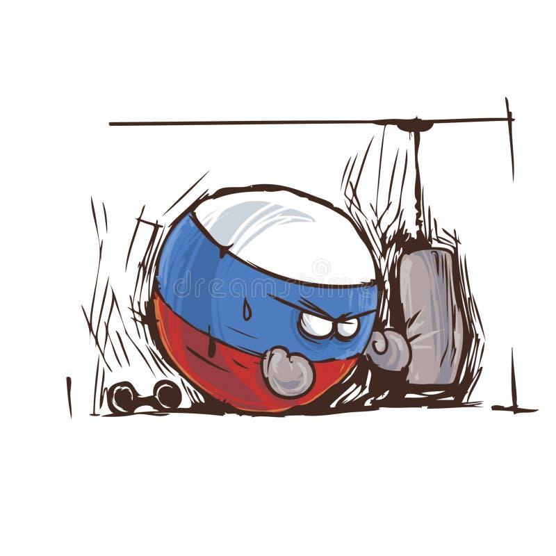Countryballs de strenth de puissance de la Russie illustration de vecteur