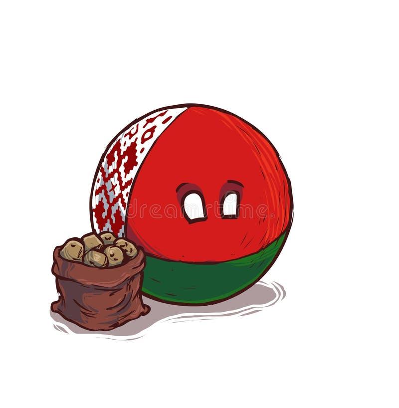 Countryballs felizes de belarus ilustração royalty free