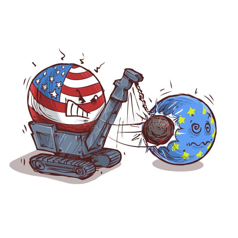 Countryballs rozbiórka EUROPA ilustracji