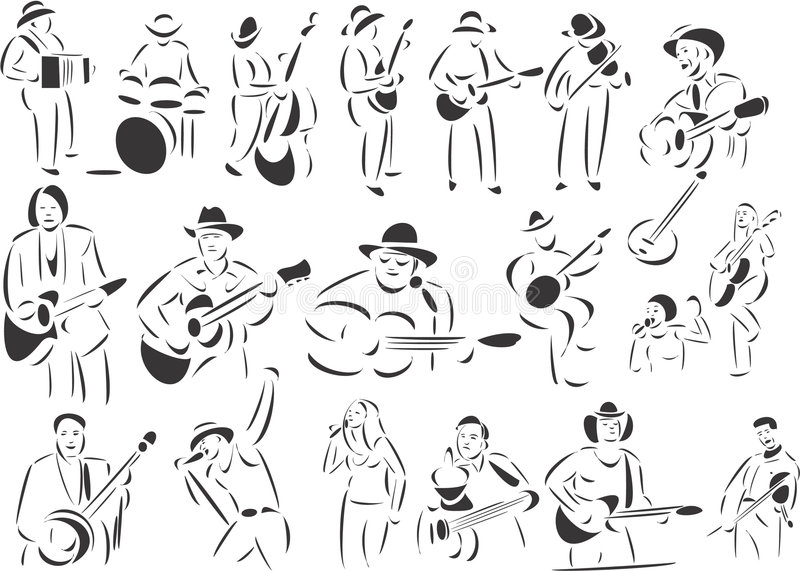 Countrymusik stock abbildung