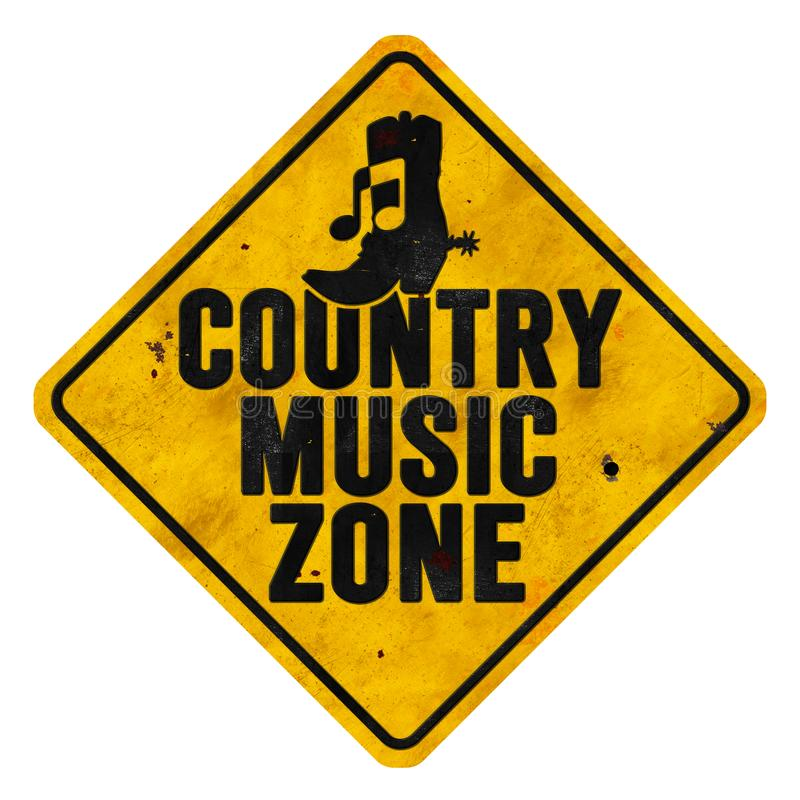 Countrymusik-Zonen-Zeichen stockbild