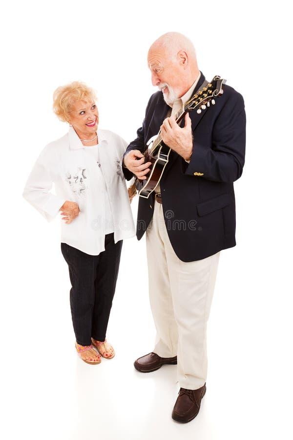 countrymusikpensionärer royaltyfria bilder