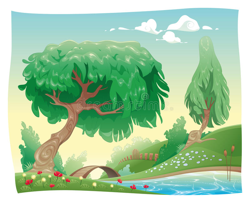 Download Countryside. stock vector. Illustration of object, panorama - 13276222