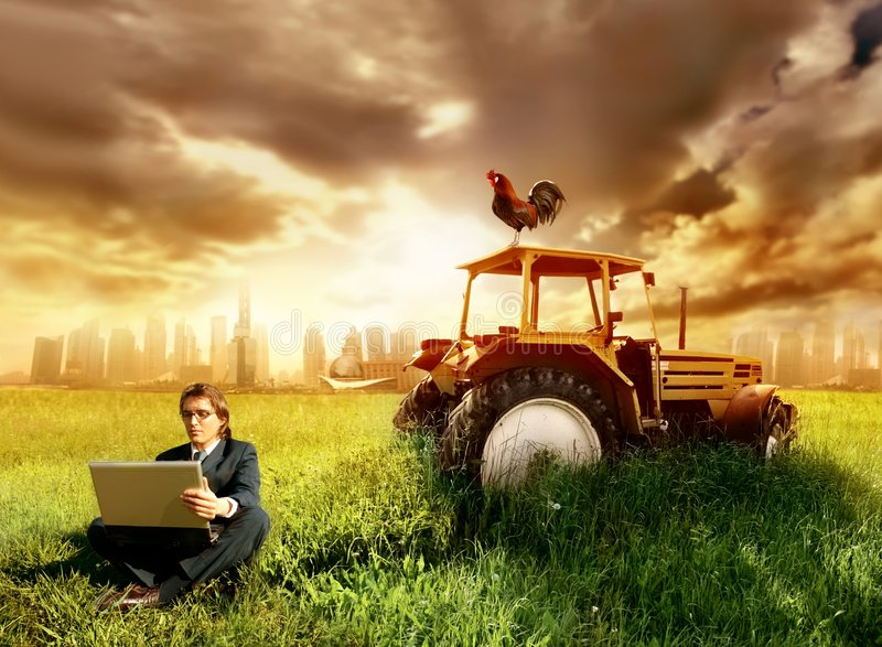 Download Countryside stock photo. Image of success, tractor, grass - 5309910