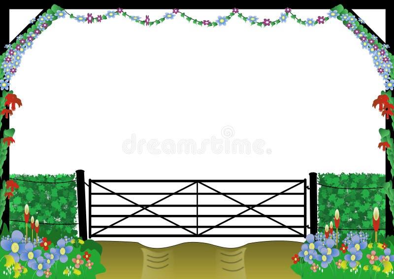 Download Countryside Farm Gate Border Stock Illustration - Image: 13056190