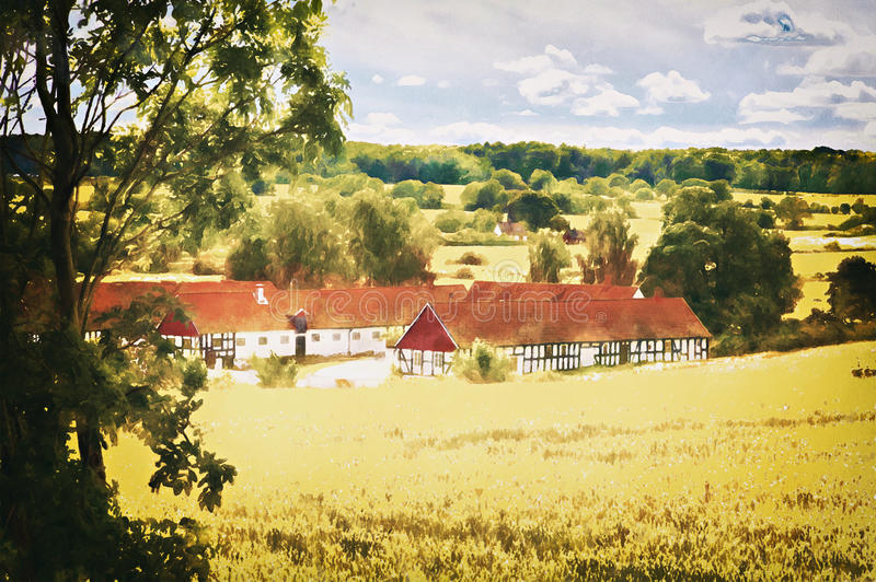 Countryside farmhouse stock images