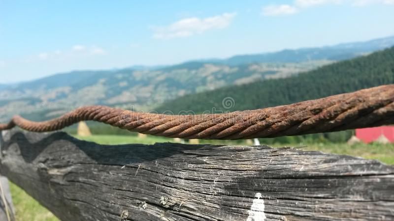 Countryside fence royalty free stock images