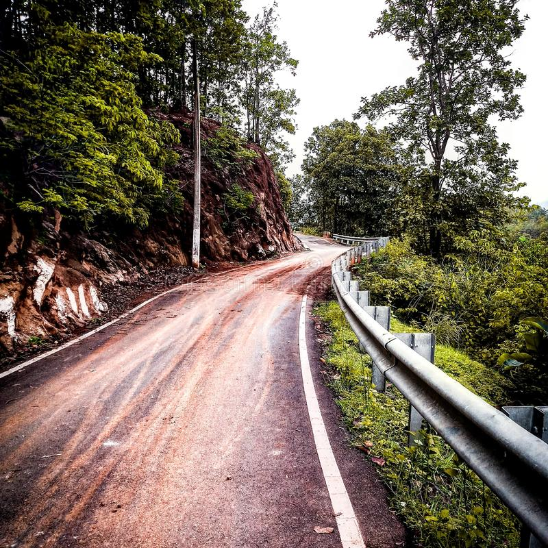 countryside hill road stock image