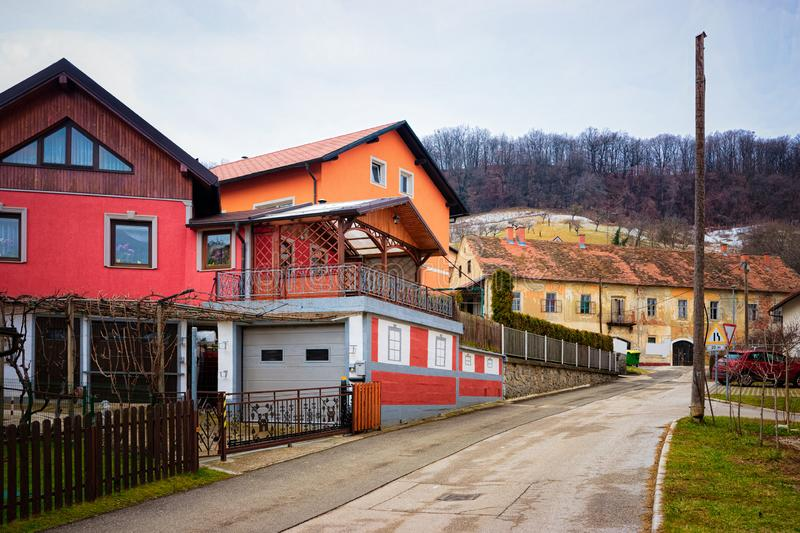 Countryside house view for lifestyle design in Maribor Slovenia royalty free stock photos