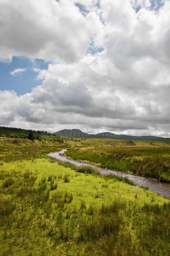 Download Countryside Landscape Across To Mountains Stock Photo - Image of brecon, range: 25837900