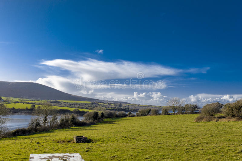 Countryside landscape County Galway Ireland. Countryside landscape at County Galway in Ireland royalty free stock photos